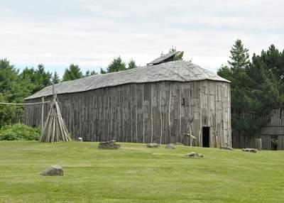 Iroquois longhouse, Crawford Lake, Milton Ontario